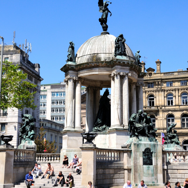 """""""The Queen Victoria monument in Liverpool"""" stock image"""