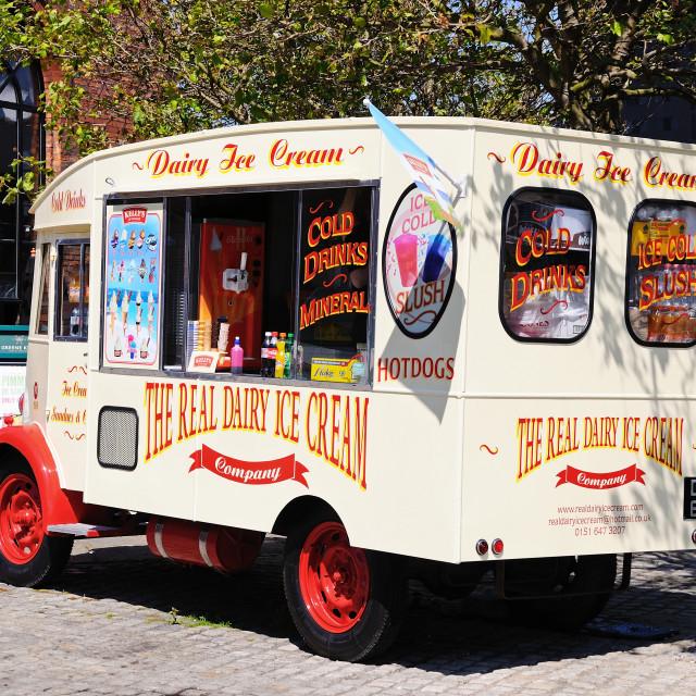 """""""Ice Cream Van"""" stock image"""