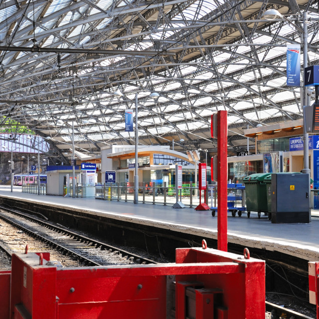 """Liverpool Lime Street Railway Station"" stock image"