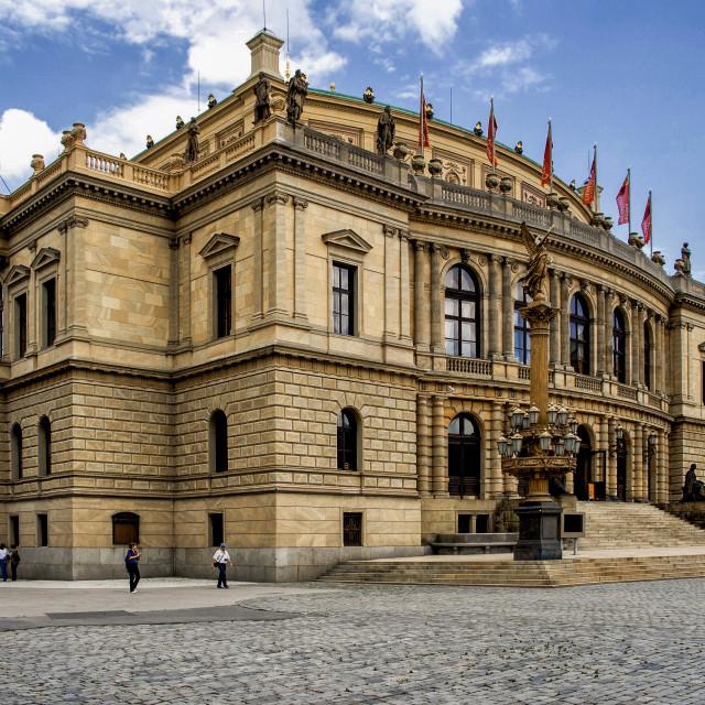 """Rudolfinum Concert Hall at Prague"" stock image"