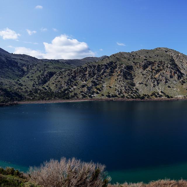 """""""Kournas Lake Panorama"""" stock image"""