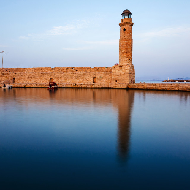 """The lighthouse of Rethymno"" stock image"