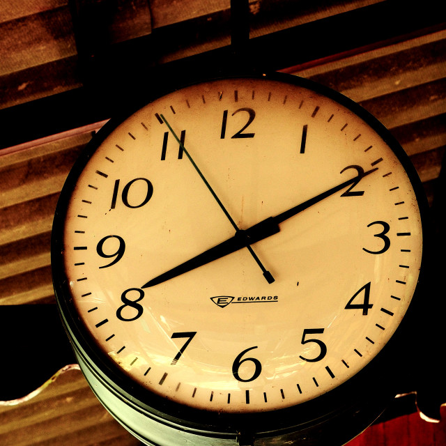 """""""What's the time Edwards?"""" stock image"""