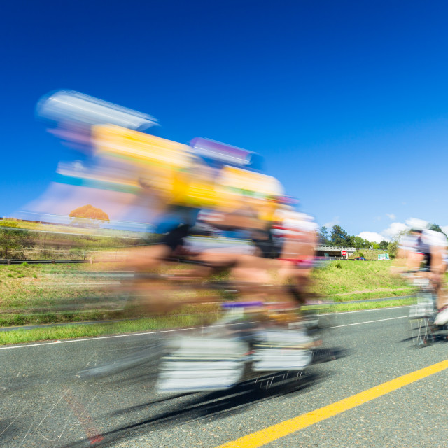 """Cycling Race Speed Blur Motion"" stock image"
