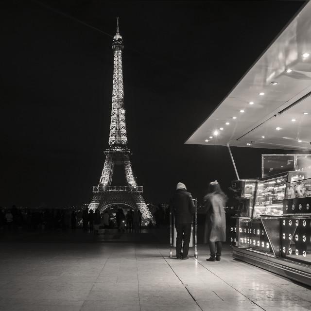 """Eiffel food stall"" stock image"