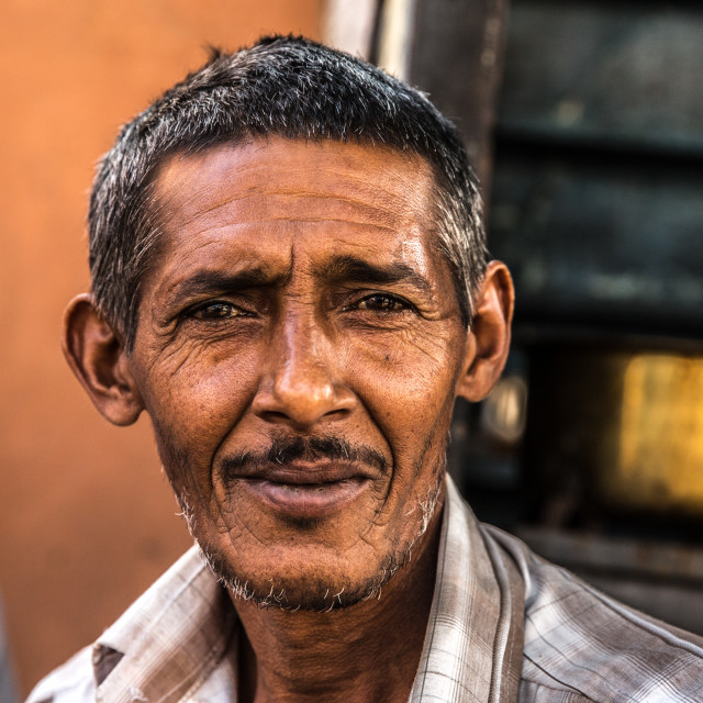 """""""Portrait of a mature adult Indian man"""" stock image"""