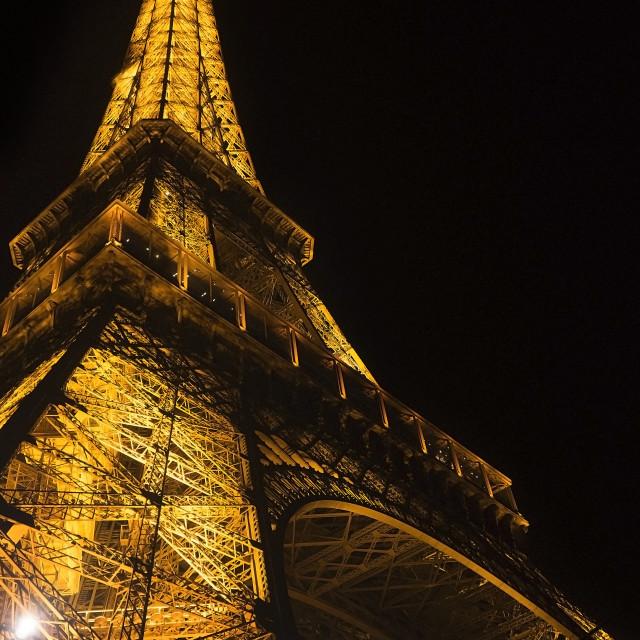 """Eiffel night light"" stock image"