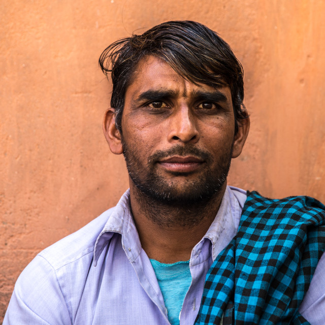 """""""Indian man portrait on the street"""" stock image"""