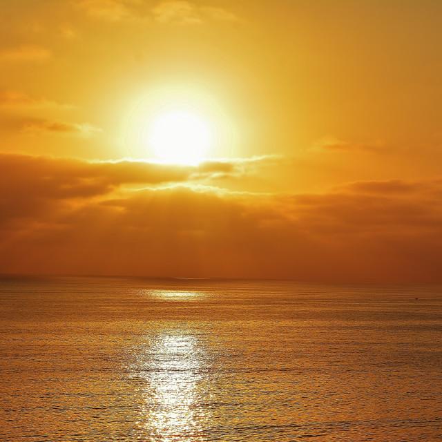 """California Golden Sunset"" stock image"