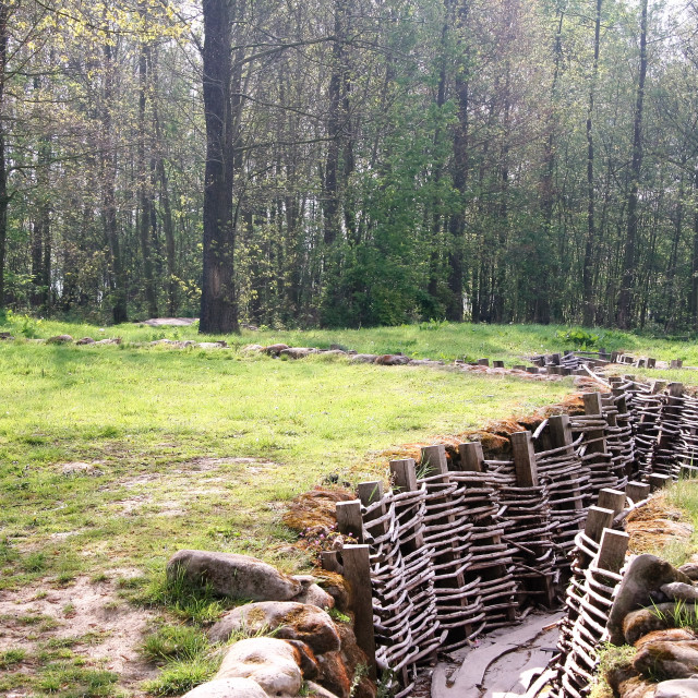 """World War One Trenches"" stock image"