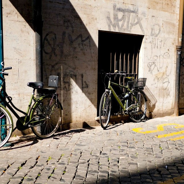 """Rome bicycles"" stock image"