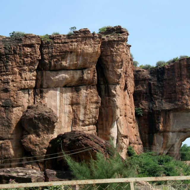 """Rocky Wall"" stock image"