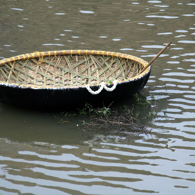 """""""Lone Coracle"""" stock image"""