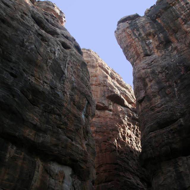 """Gigantic Rocky Walls"" stock image"
