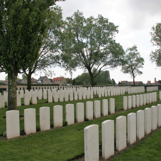 """Messines Ridge British Cemetery"" stock image"