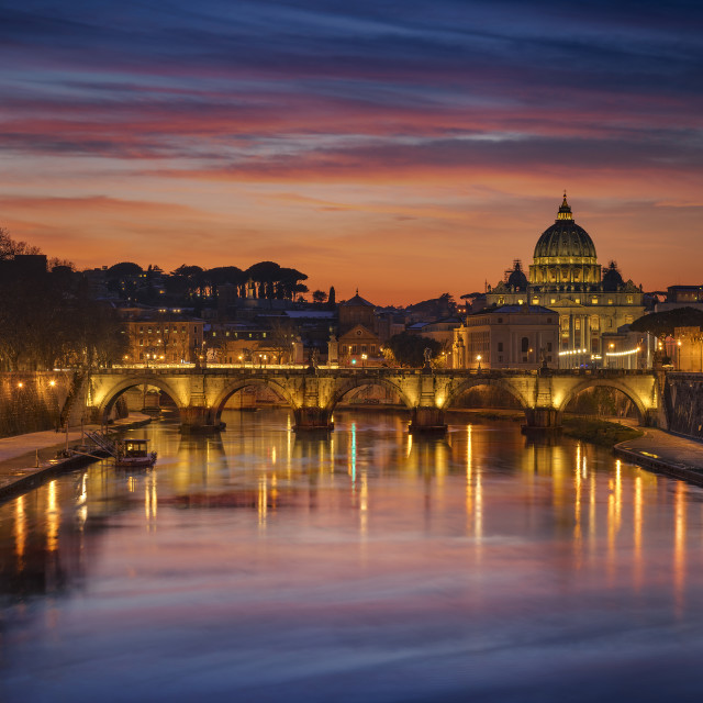 """Sunset in Rome"" stock image"