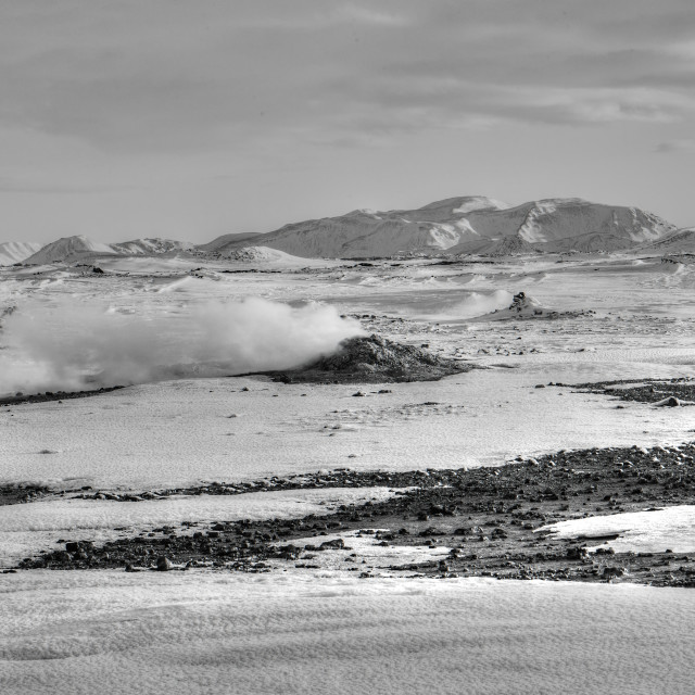 """""""Steam vents in Hverir (2)."""" stock image"""
