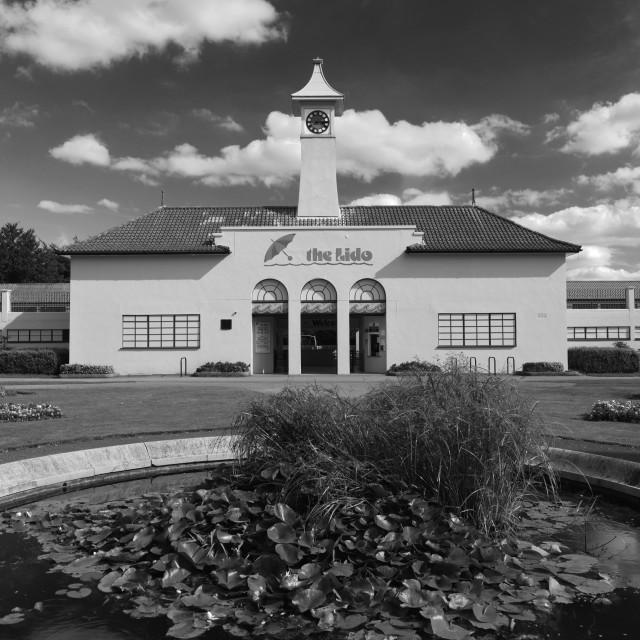 """The Lido swimming pool, Peterborough City; Cambridgeshire; England; UK"" stock image"