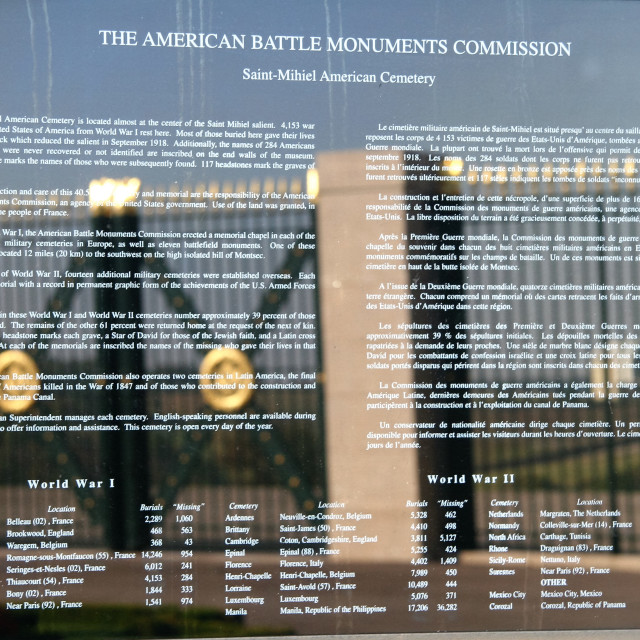 """American Battle Monuments Commission"" stock image"