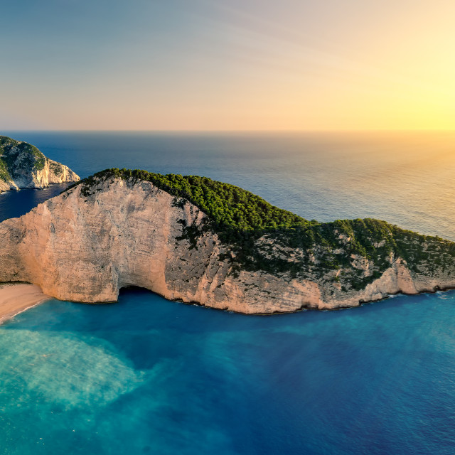 """Navagio Beach, Zakynthos, Greece"" stock image"