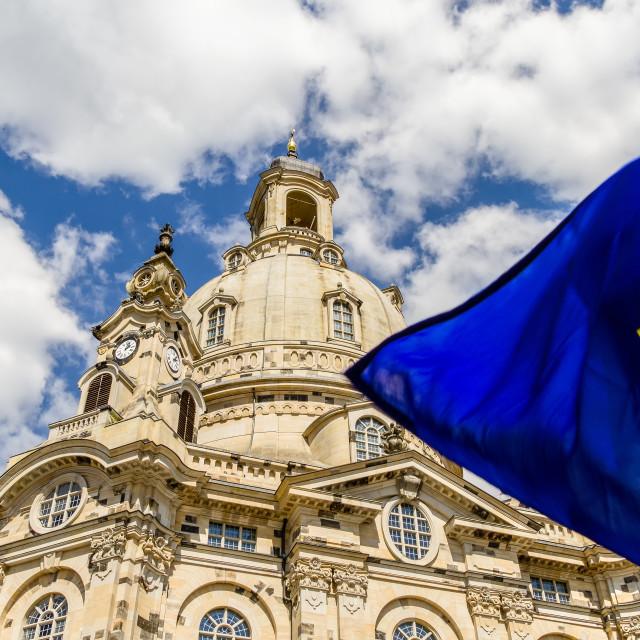 """Frauenkirche Dresden / Europe"" stock image"