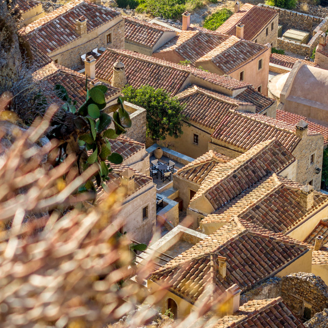 """Monemvasia from above"" stock image"