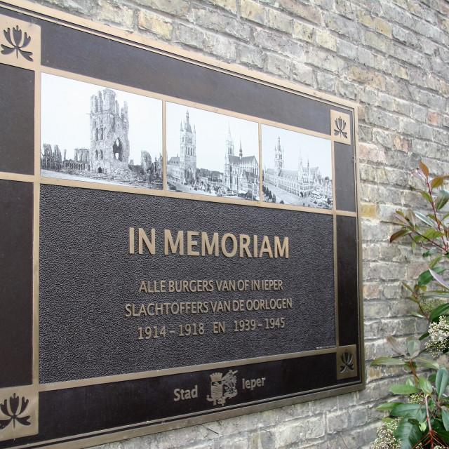 """In Memoriam - Ypres (Ieper)"" stock image"