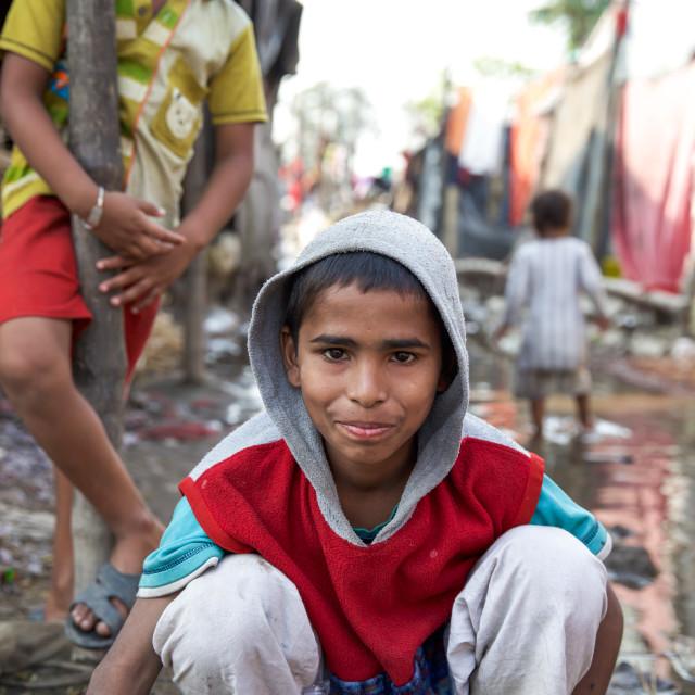"""""""Life in a slum XI"""" stock image"""