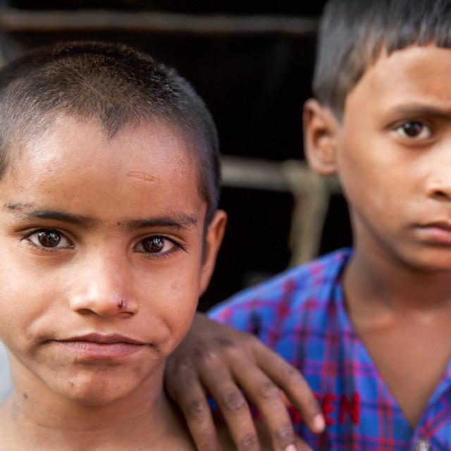 """""""Life in a slum IX"""" stock image"""