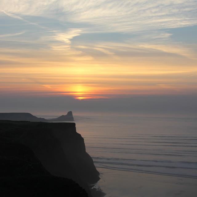 """Worm's Head Sunset"" stock image"