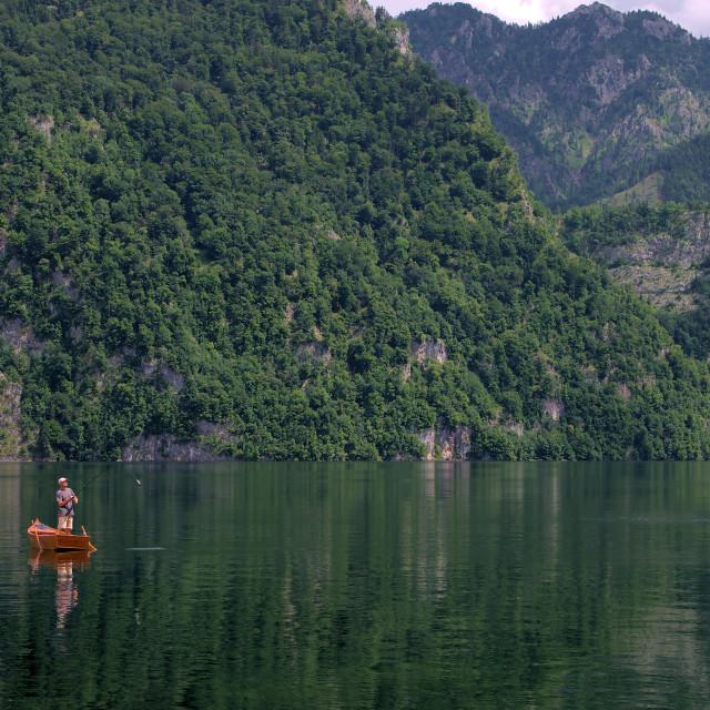 """""""Lake Traun"""" stock image"""