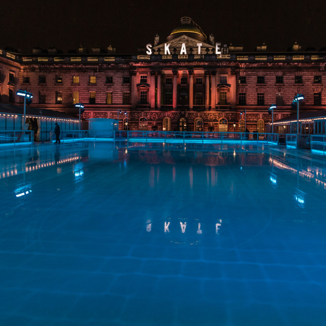 """Skate at Somerset House - no people"" stock image"