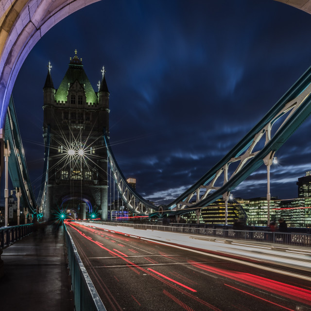 """A View On Tower Bridge"" stock image"