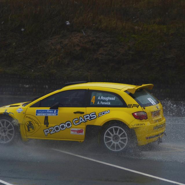 """""""Rally and rain"""" stock image"""