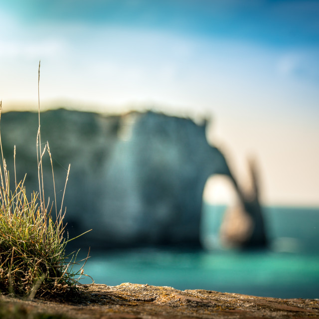 """The cliffs of Étretat"" stock image"