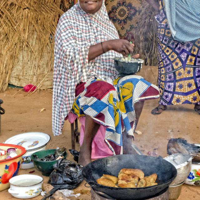 """Street food - Niamey, Niger"" stock image"