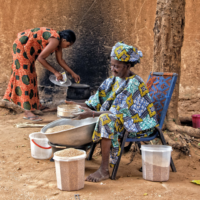 """African outdoor kitchen - Niamey, Niger"" stock image"