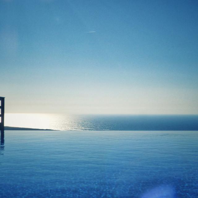 """Pool level sea view"" stock image"