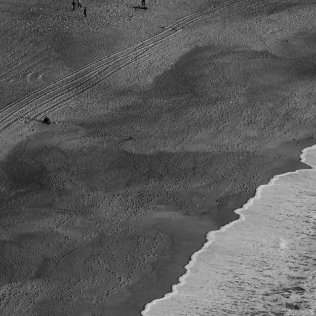 """""""Beach and sand Top View"""" stock image"""