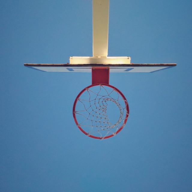 """""""Basketball basket bottom to top"""" stock image"""