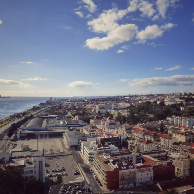 """""""City View of Lisbon Portugal"""" stock image"""