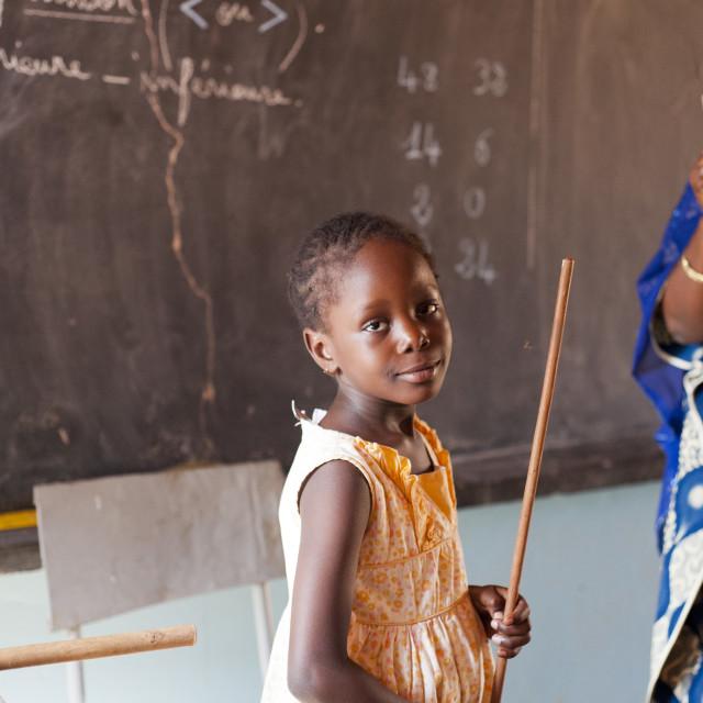 """""""African schoolgirl; Niger, West Africa"""" stock image"""