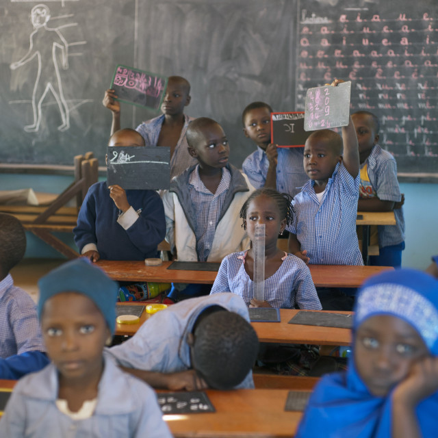 """Classroom at Ecole Agora; Niamey, Niger"" stock image"