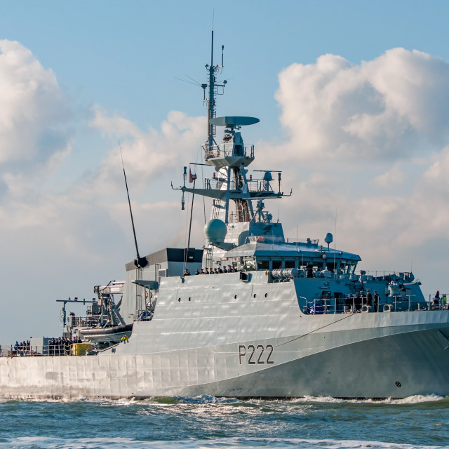 """Royal Navy Patrol Vessel, HMS Forth"" stock image"