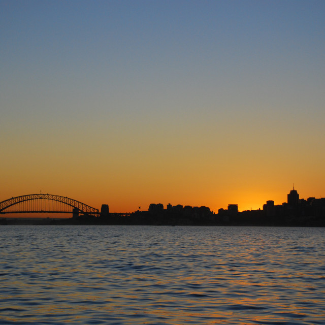 """Sydney Harbour Sunset"" stock image"