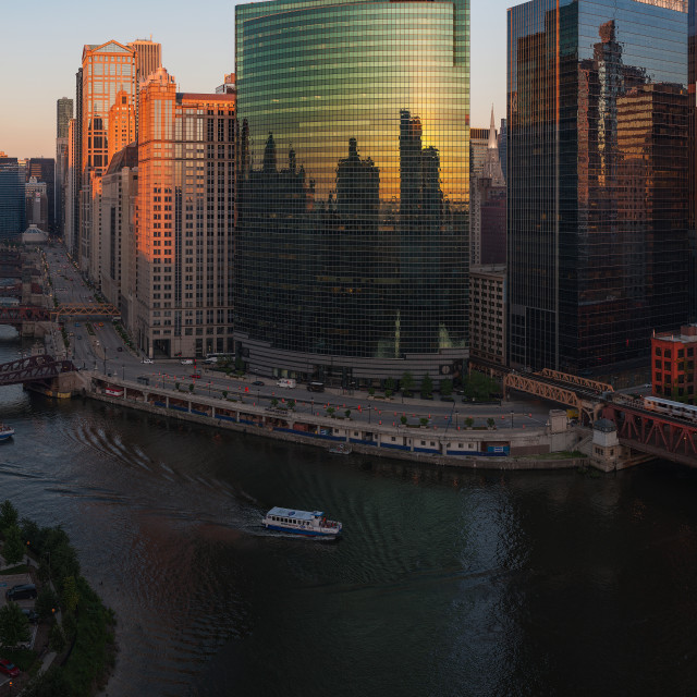"""""""Chicago On The River"""" stock image"""