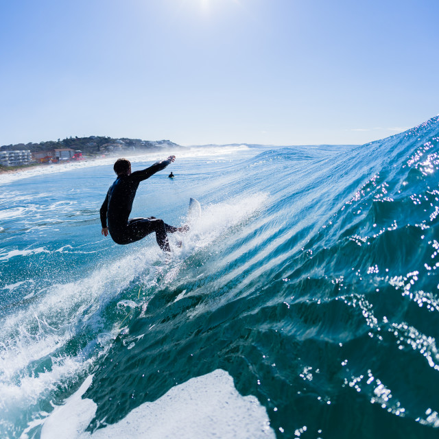 """Surfing Surfer Ride Water Photo"" stock image"
