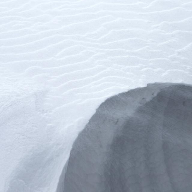 """Snowdrift"" stock image"