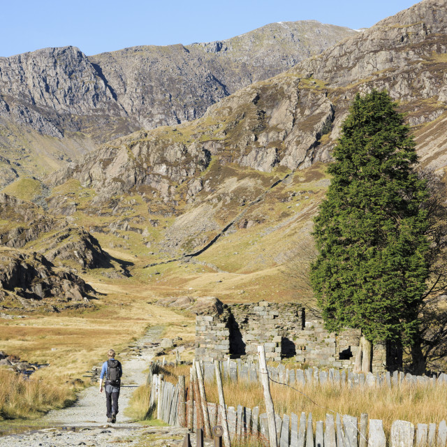 """Watkin Path to Snowdon"" stock image"