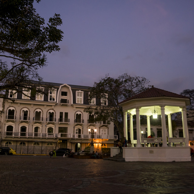 """Panama, Province Of Panama, Panama City, Independance Plaza In Old City Casco..."" stock image"